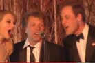Il Principe William si scatena con Jon Bon Jovi su Livin' On A Prayer
