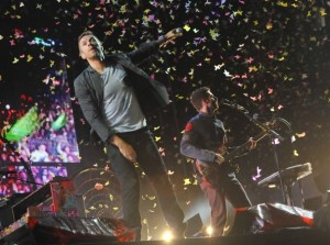 Scaletta Coldplay Tour 2012