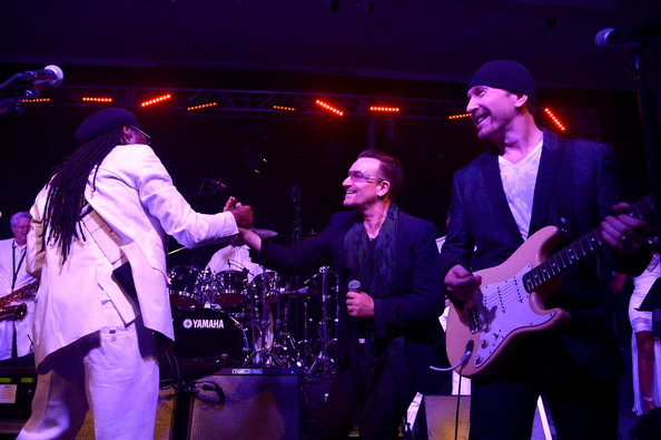 bono Nile Rodgers get lucky cover