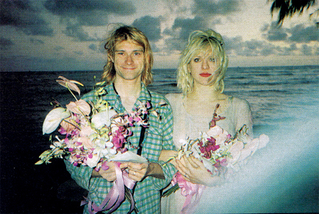 fotografia kurt cobain courtney love juntos:
