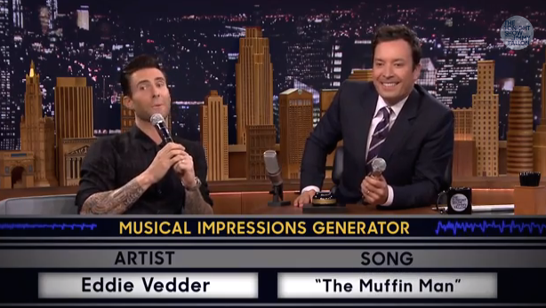 Adam Levine Jimmy Fallon