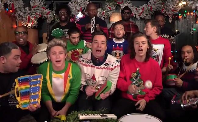 one-direction-jimmy-fallon-santa-claus-is-coming-to-town