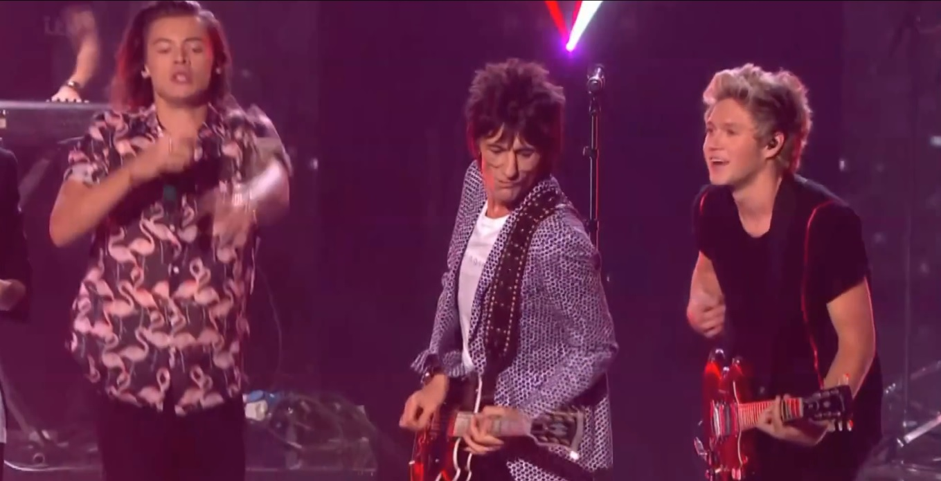 ronnie wood one direction x factor video