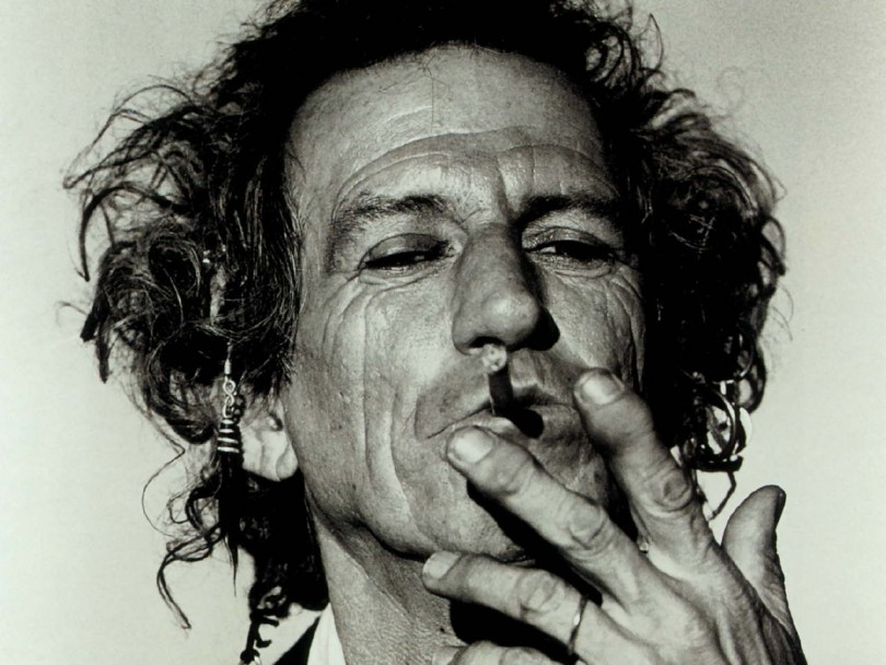 Keith Richards una canna a colazione