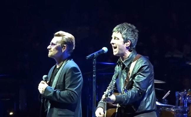 U2 noel gallagher concerto londra beatles