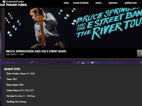 bruce springsteen rumor nuovo tour 2016 the river