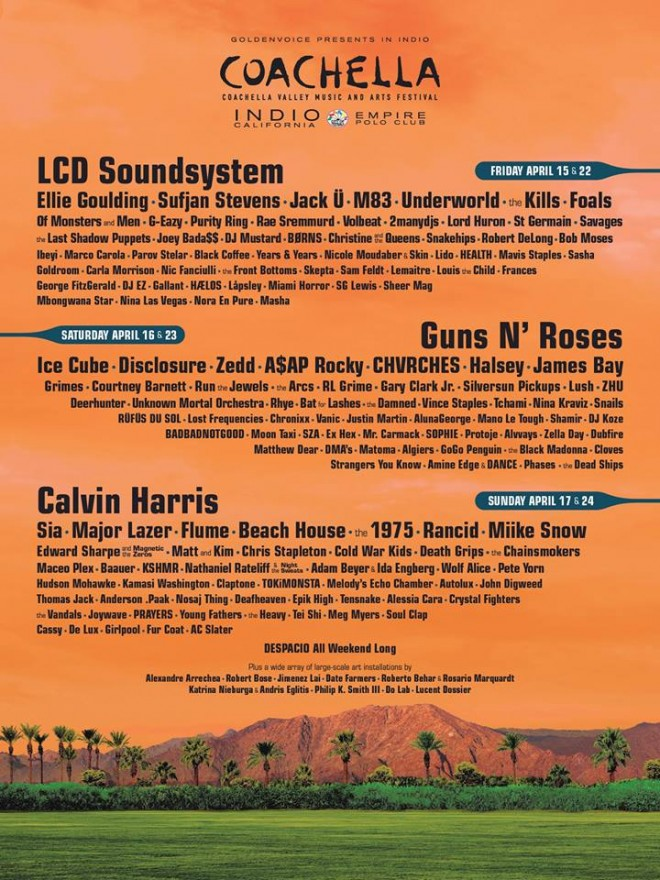 coachella 2016 guns lcd reunion